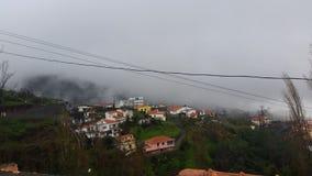 Montañas y nubes en Madeira Imágenes de archivo libres de regalías