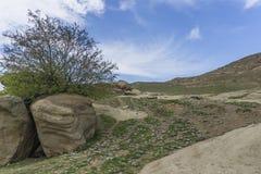 Montañas y paisaje de las rocas Foto de archivo