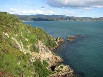Montañas y paisaje marino. Foto de archivo libre de regalías