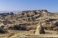 Montañas y rocas del paisaje de Cappadocia, Turquía fotos de archivo libres de regalías