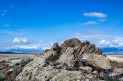 Montañas y rocas en la isla del antílope Imagen de archivo