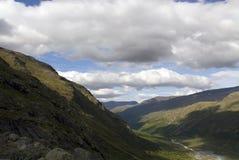 Montañas y valles en Jotunheimen Fotos de archivo