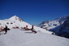 Montañas y wintersport del invierno fotos de archivo libres de regalías
