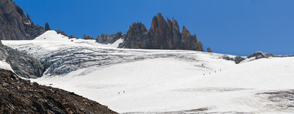 Montañeses en las montañas Imágenes de archivo libres de regalías