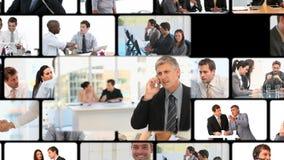 Montaż ludzie biznesu komunikować zbiory wideo