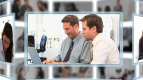 Montaż ludzie biznesu w różnych sytuacjach zdjęcie wideo