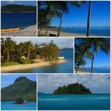 montaż podróż tropikalna Zdjęcia Stock