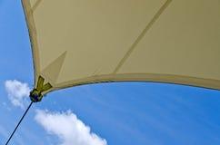 Montaż słońce ochrony żagiel Fotografia Royalty Free