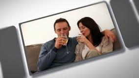 Montaż w miłości para zbiory wideo