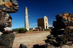 Engine House at Moonta Mines. The Engine House at the Moonta Mines on the Yorke Peninsula of South Australia Stock Photos