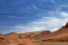 Montaña de la llama, Tolufan, Xinjiang, China Foto de archivo libre de regalías
