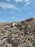 Montaña de los escombros Imagenes de archivo
