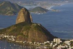 Montaña del pan de azúcar, Río de Janiero, el Brasil Imagenes de archivo