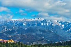 Montañas de Bucegi en otoño Imágenes de archivo libres de regalías