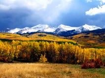 Montañas de la caída Fotografía de archivo