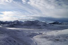 Montañas de la nieve de Tíbet Imagen de archivo libre de regalías