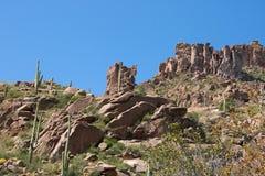 Montañas de la superstición de Arizona Fotografía de archivo