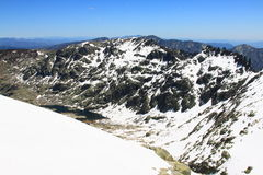 Montañas de los gredos de la nieve en Ávila Imágenes de archivo libres de regalías
