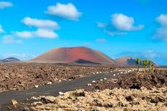 Montañas del fuego, isla de Lazanrote Imagen de archivo