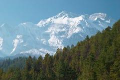 Montañas del tibetano Nevado Foto de archivo libre de regalías