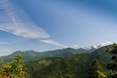 Montañas y glaciares de Huricane Ridge Fotografía de archivo libre de regalías