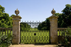 Montacute Gates Stock Photography