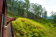 Montada pelo trem em Sri Lanka Fotos de Stock Royalty Free