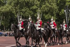 Montada real dos horseguards foto de stock