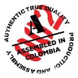 Montado no carimbo de borracha de Colômbia ilustração stock