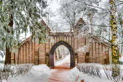 Montag-Repos Park Wyborg Russland Stockfotografie