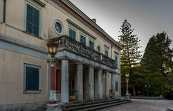 Montag-Repospalast in Korfu Griechenland stockbild