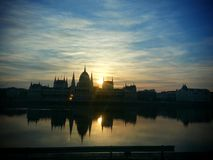 Montag-Sonnenaufgang Stockfoto