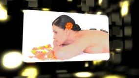 Montage über die entspannenden Frauen stock footage