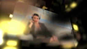 Montage über Geschäftskommunikation stock video
