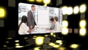 Montage über Geschäftstreffen stock video