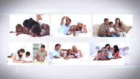Montage οικογενειακής ζωής φιλμ μικρού μήκους
