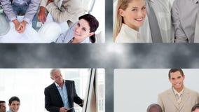 Montage της ευτυχούς επιχειρησιακής ομάδας φιλμ μικρού μήκους