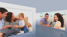 Montage των έγκυων οικογενειών απόθεμα βίντεο