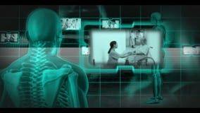 Montage των γιατρών στην εργασία φιλμ μικρού μήκους