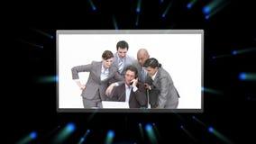 Montage των επιχειρηματιών στην εργασία φιλμ μικρού μήκους