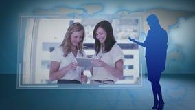Montage των επιχειρησιακών βίντεο απόθεμα βίντεο