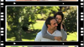 Montage των εραστών που ξοδεύουν το χρόνο από κοινού απόθεμα βίντεο