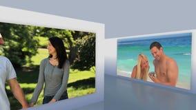Montage των ερωτευμένων ζευγών απόθεμα βίντεο