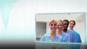 Montage των ιατρικών ομάδων απόθεμα βίντεο