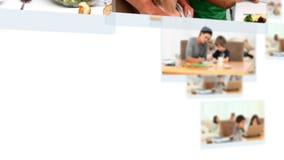 Montage των καλών οικογενειών που έχουν τους μεγάλους χρόνους από κοινού φιλμ μικρού μήκους