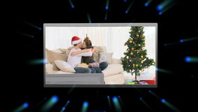Montage των συνδετήρων Χριστουγέννων απόθεμα βίντεο