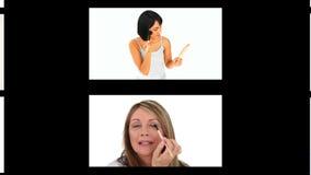 Montage των όμορφων γυναικών που αποτελούν απόθεμα βίντεο