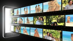 Montage of active couples. Montage of active happy couples stock video footage