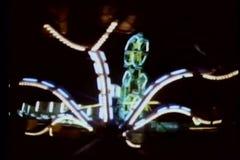 Montage of amusement park rides stock footage