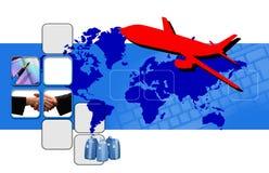 Montage auf Geschsaftsreise Lizenzfreie Stockfotos